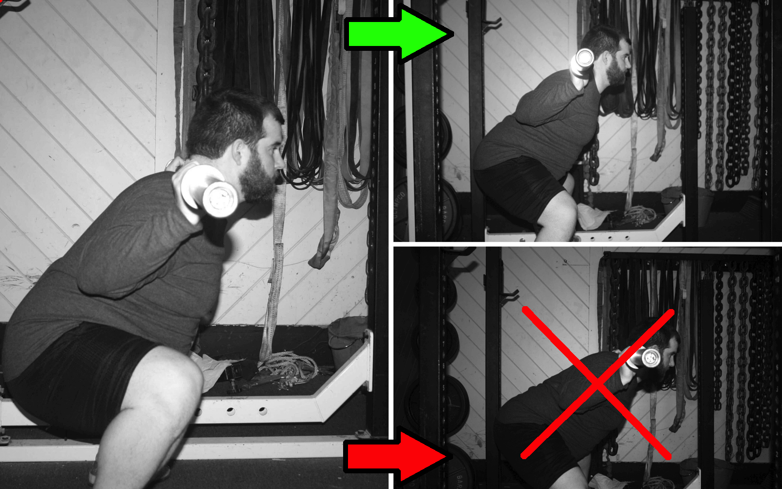 Good squat vs. GM squat
