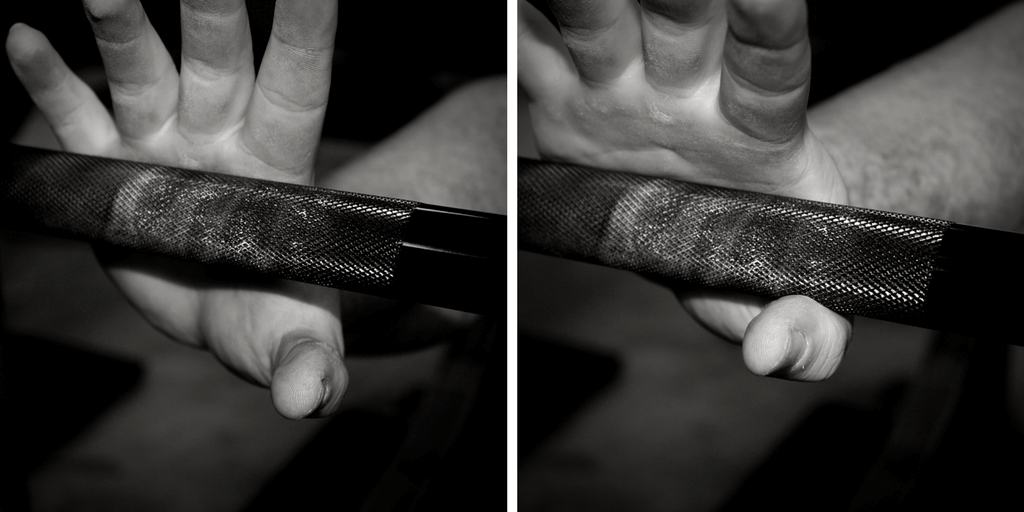 where to set barbell in your hand