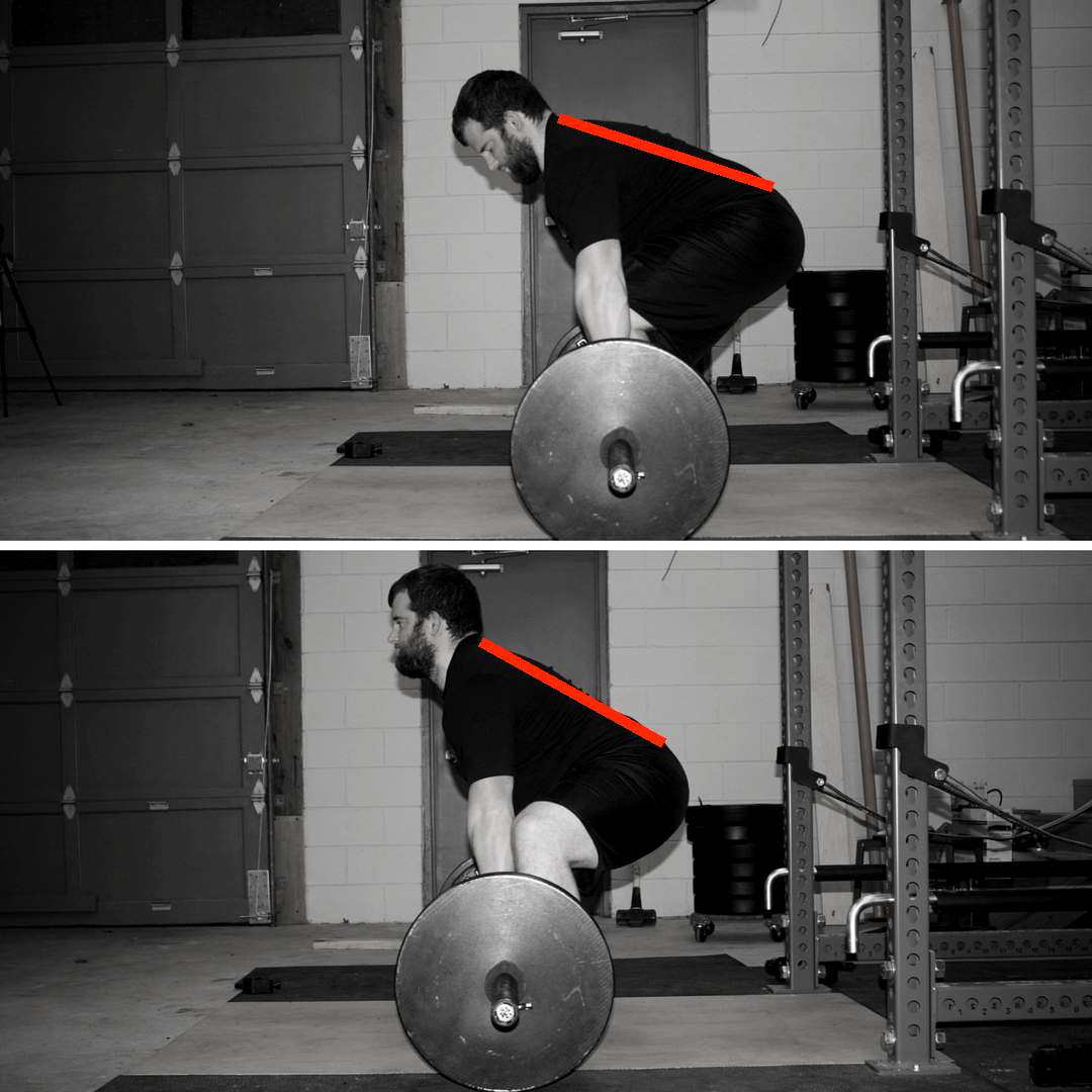 conventional deadlift vs sumo deadlift back angle