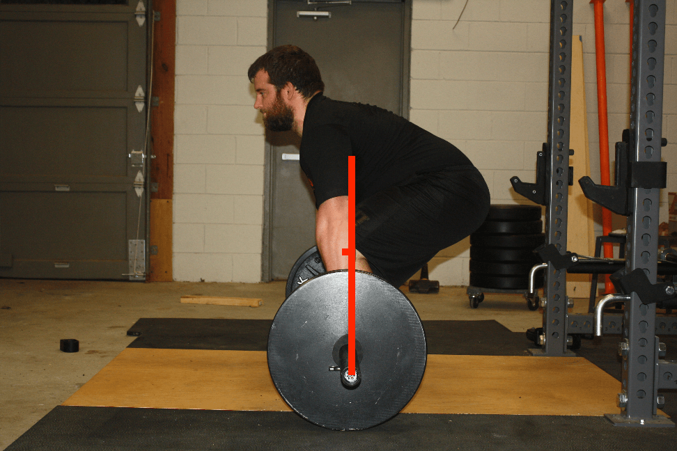 center of mass of conventional deadlift