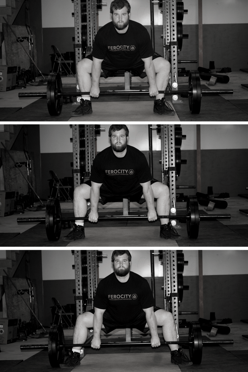 Narrow, moderate, and wide-stance sumo deadlift