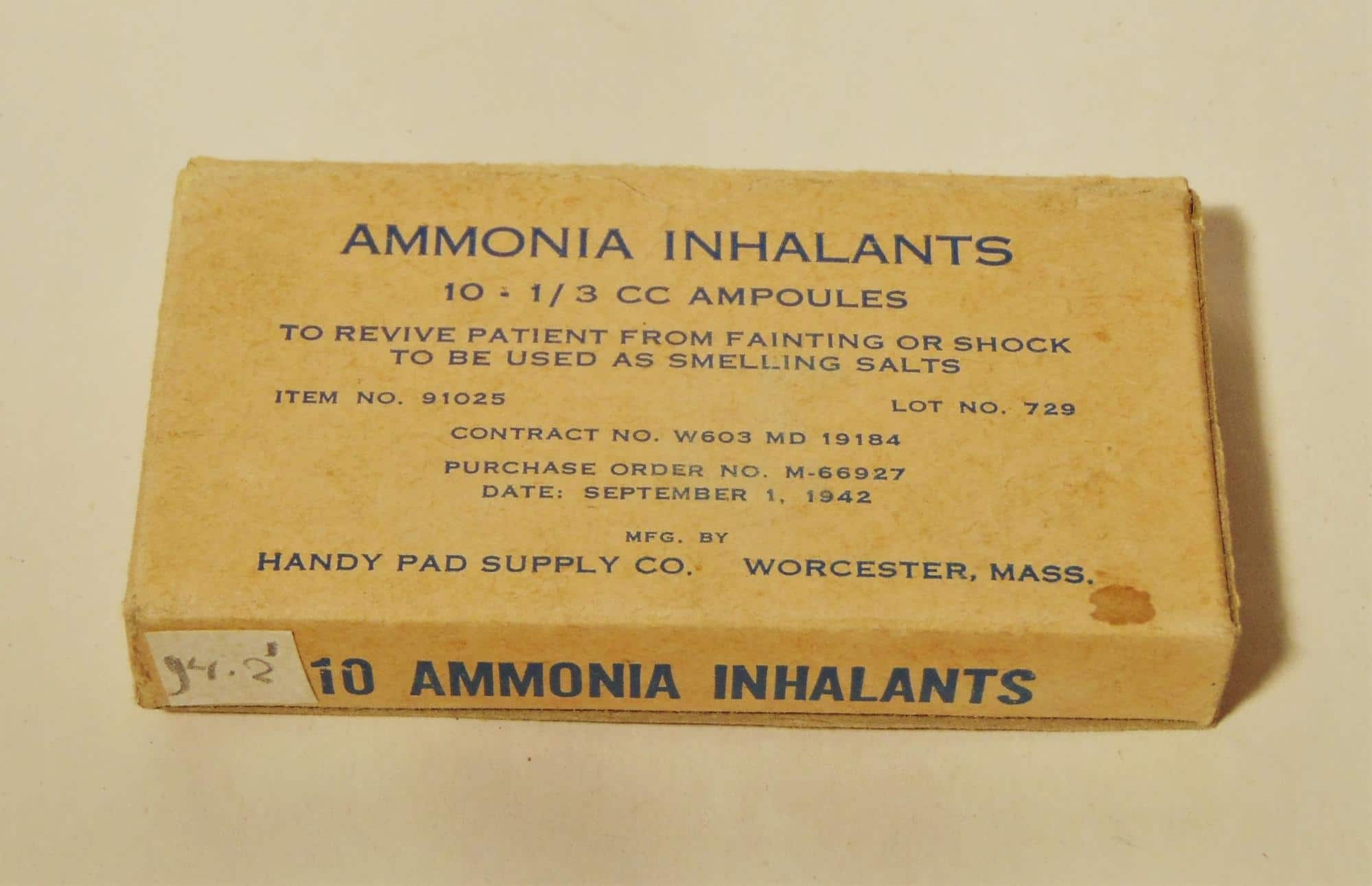 ammonia inhalants